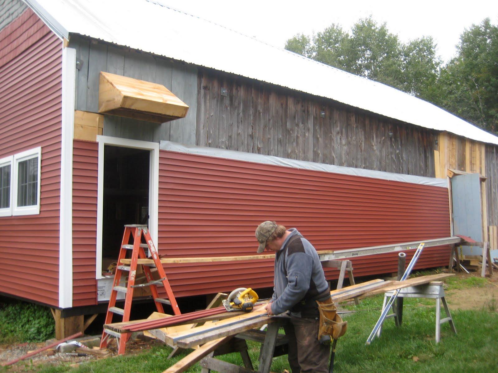 Sandy River Barn Restoration September 2010