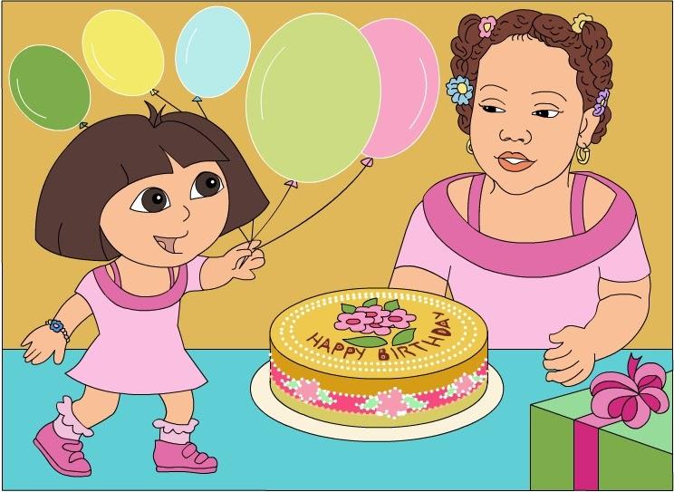 Ballerina Dora Birthday Cake