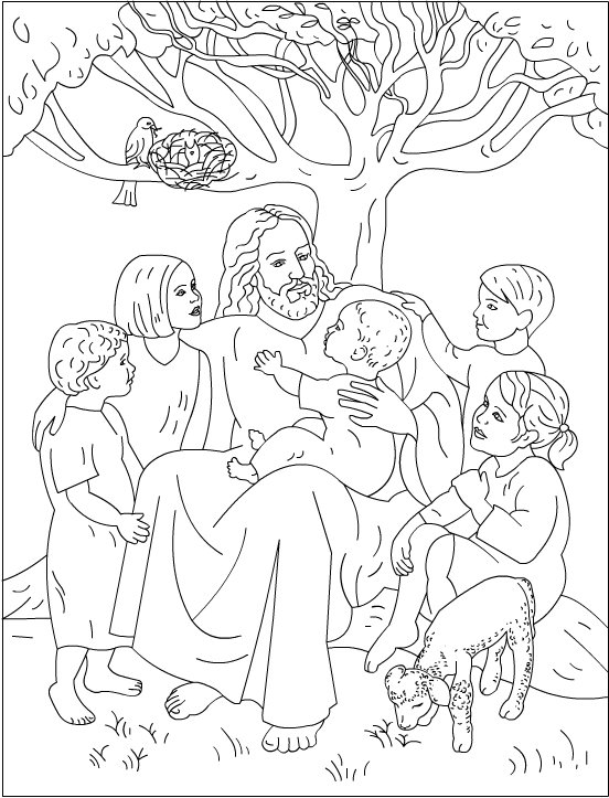 Love one another coloring pages for Jesus loves the little children coloring page