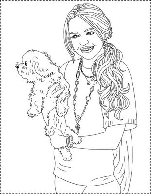 hannah motana coloring pages | Nicole's Free Coloring Pages: Hannah Montana * coloring ...