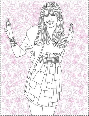 hannah montana online coloring pages - photo#32