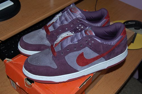 detailed look 1e02d 0521b Nike SB Dunk high - looks similar to the dunk low plums but with a purple  swoosh and was inspired by master splinter. Nike SB Blazer - Tribe Called  Quest