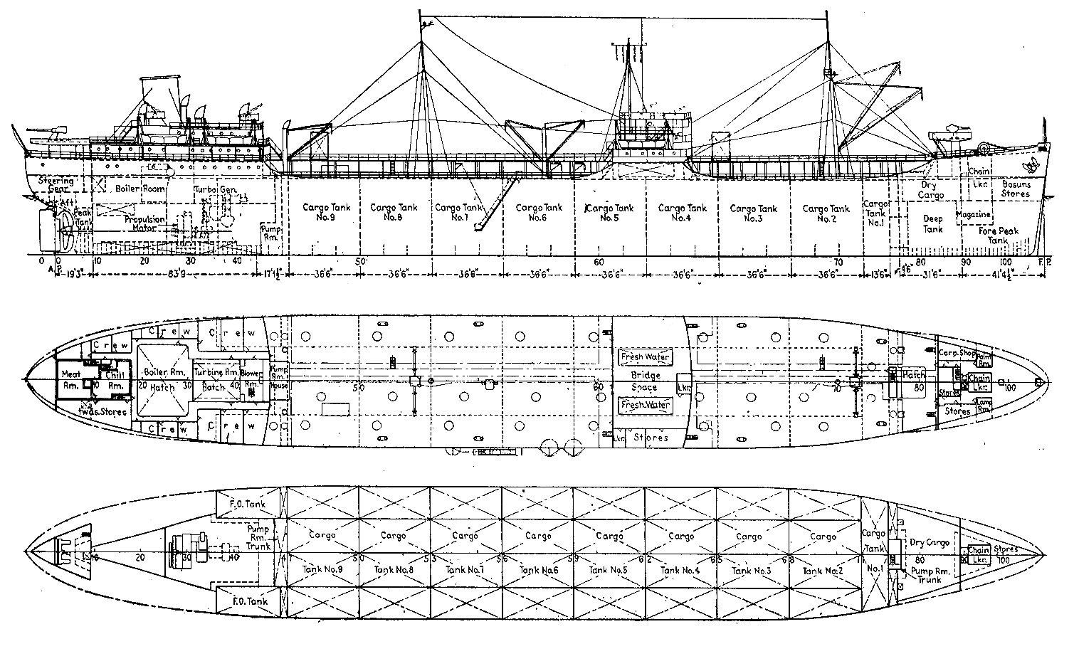 Marina Mercante Uruguaya B T Ancap Tercero Ancap