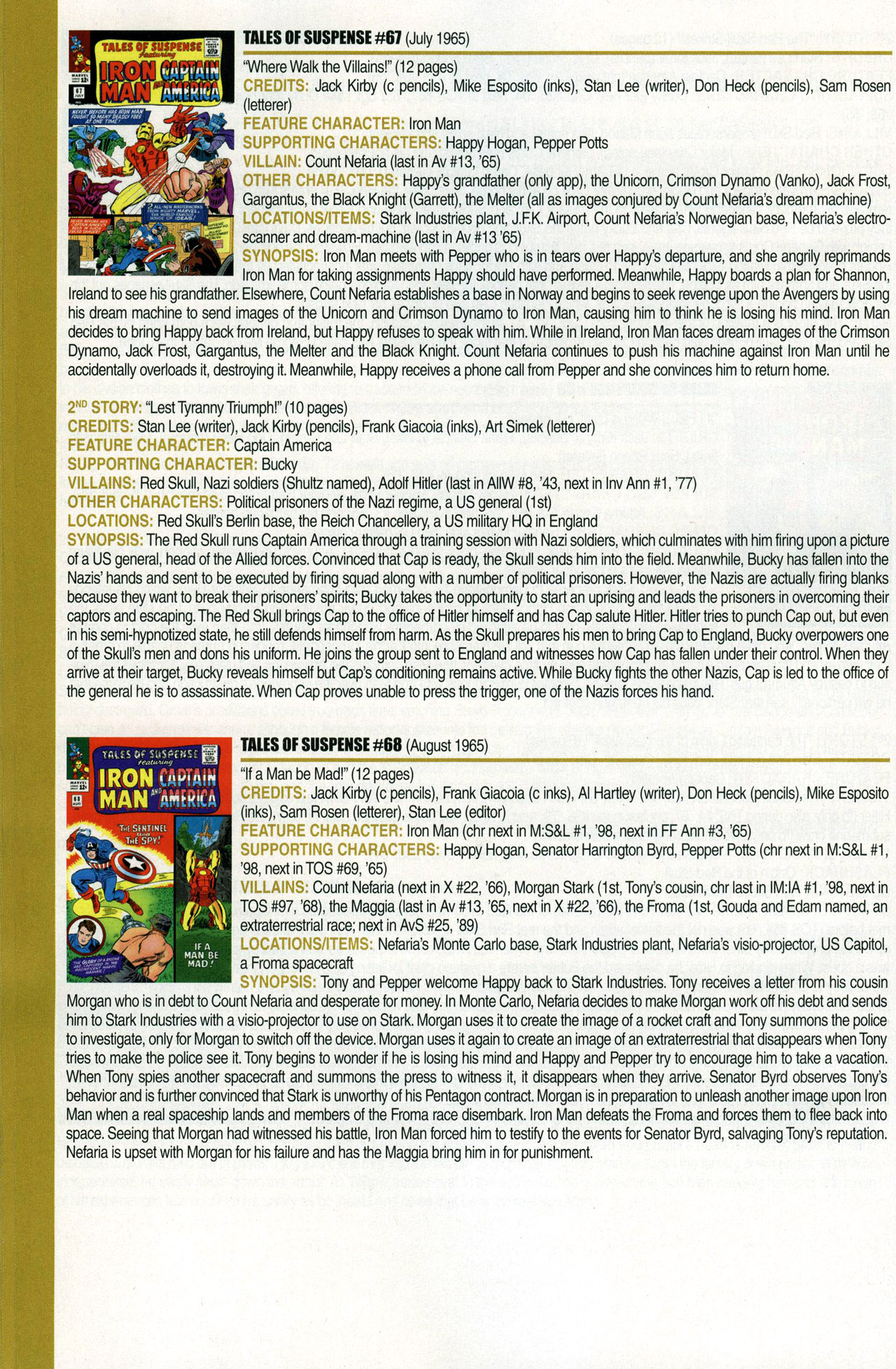 Read online Official Index to the Marvel Universe comic -  Issue #1 - 42