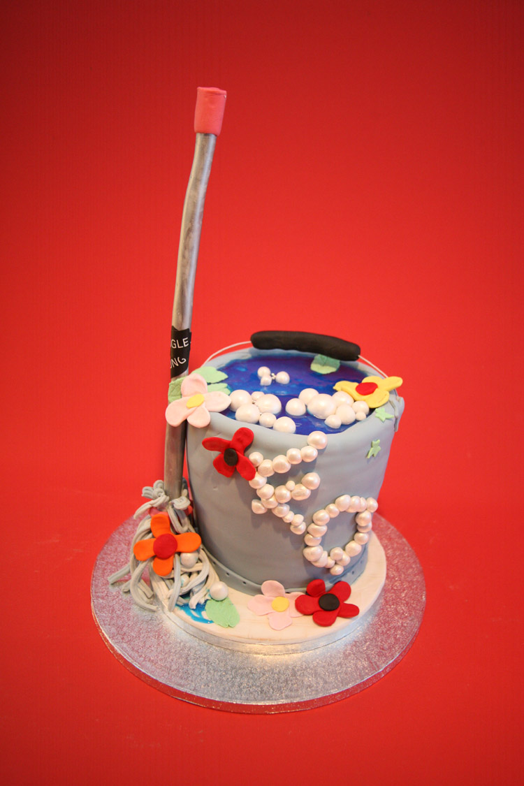 The Perfectionist Confectionist Mop And Bucket Cake
