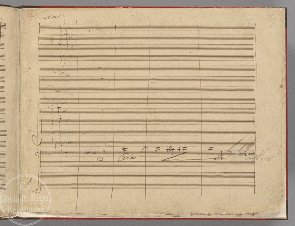 The Daily Beethoven: 8/16 The 9th Symphony Autograph Manuscript