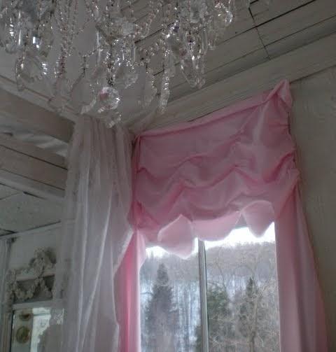 My Shabby Streamside Studio: My Shabby Pink Drapes
