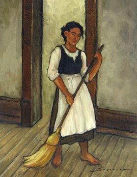 Deb Schmit S Painting Journal Quot Woman Sweeping The Floor Quot
