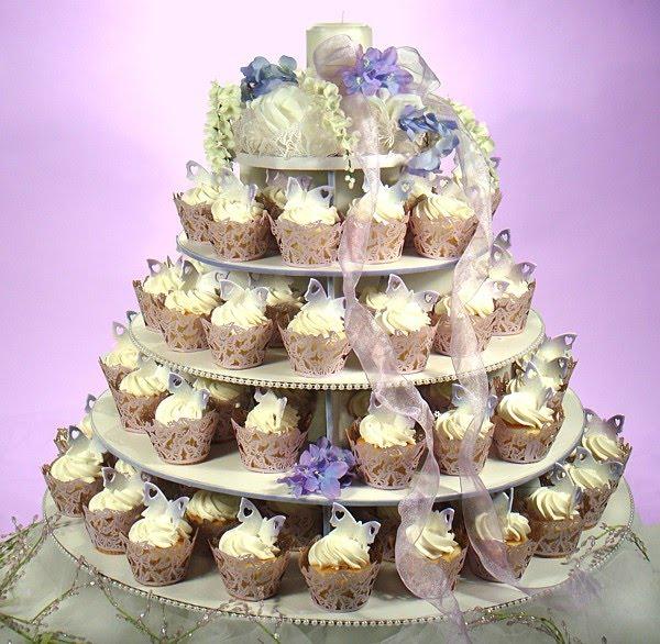 Cupcake Wedding Cakes: Everything Green Weddings And More: Cupcake Wedding Cakes