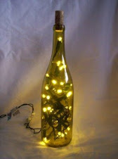 Green Wine Bottle Lamp