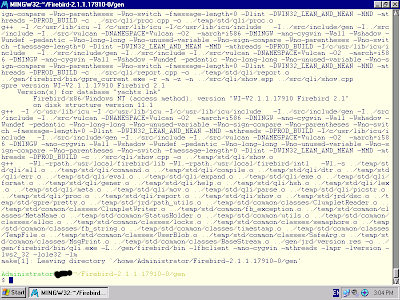 Mariuz's Blog: Firebird 2 1 x Mingw build successfully