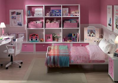 dormitorios infantiles para nias en colores rosa y blancosi le cambiamos el color podremos utilizarlo para un niouna con cama individual