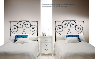 camas individuales nunki forja