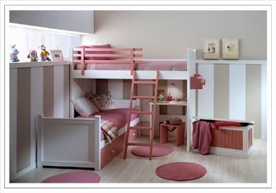 Camas Dobles Y Triples Para Dormitorios Juveniles E Infantiles - Camas-dobles-infantiles-para-espacios-reducidos