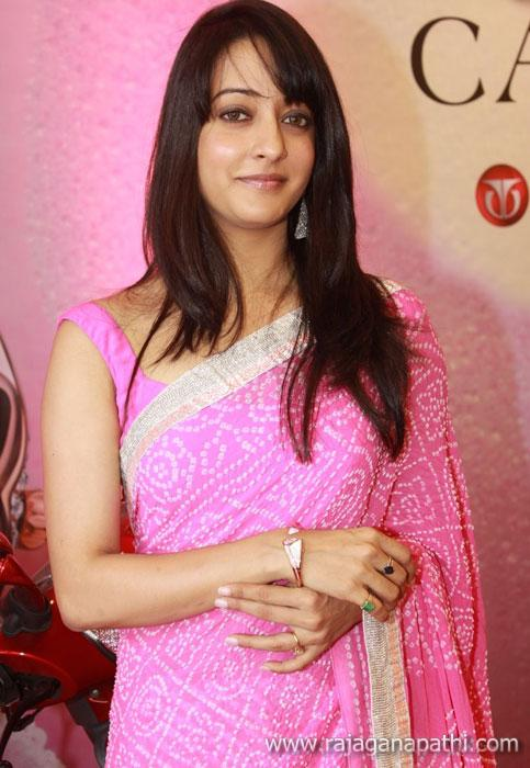 Actress Raima Sen Wearing Pink Saree Cute Stills -1164