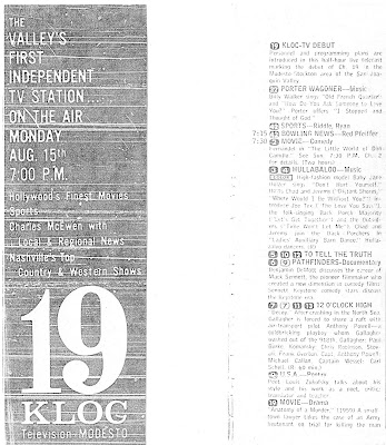 BLOG WILKINS: CHANNEL 19's 42nd ANNIVERSARY: 1966 Program