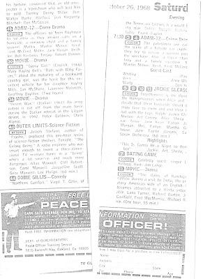 BLOG WILKINS: OCTOBER 26, 1968 TV GUIDE LISTINGS: Click