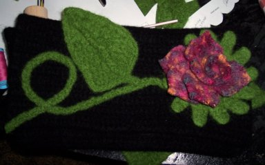 Dee's felting; click onto image for a closer view