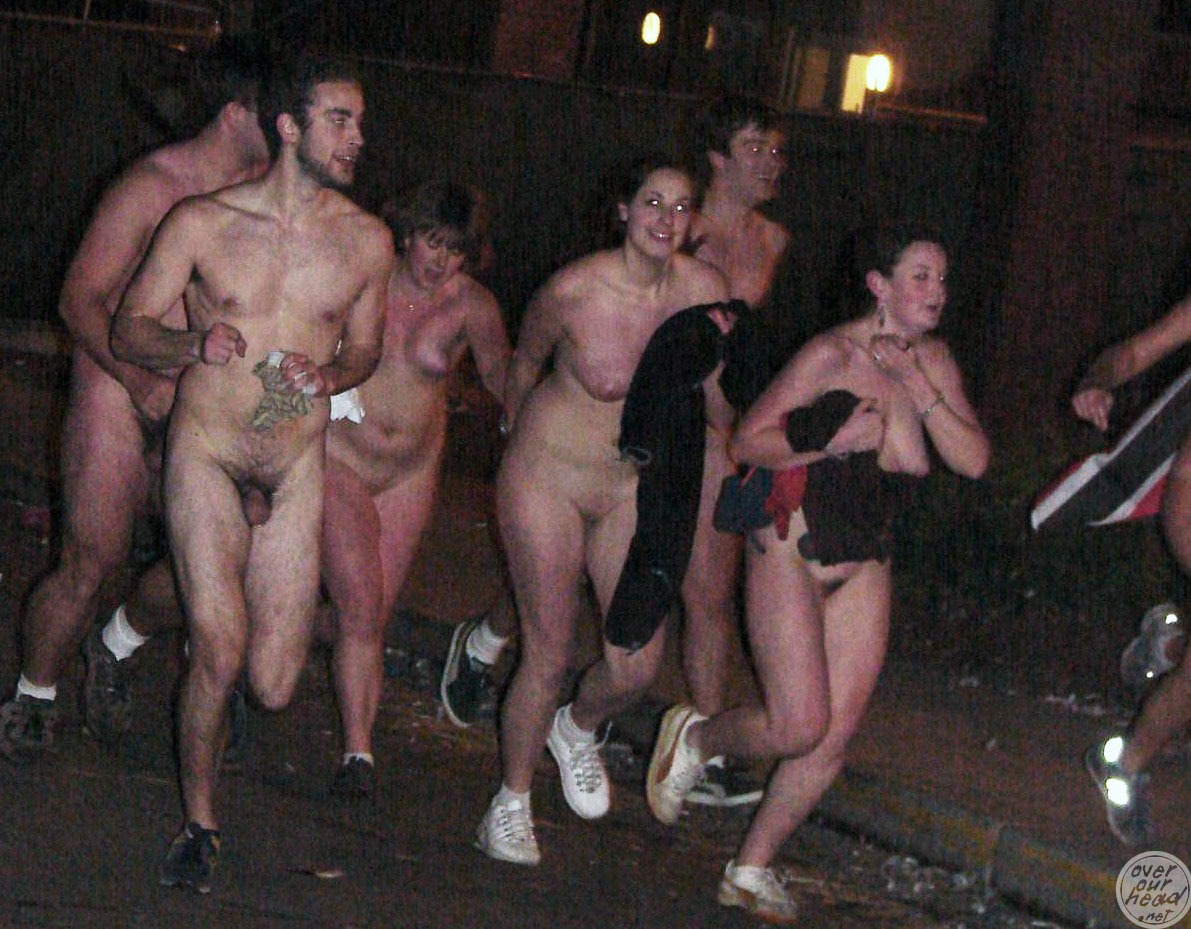 Tufts naked quad run becomes excessively overdressed quad stroll