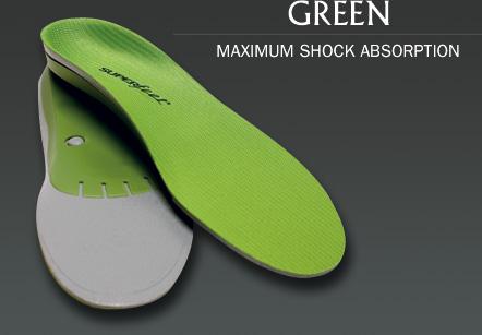 Superfeet GREEN Premium Insoles size 10m