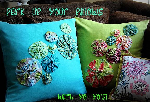 Spring Project Perk Up Your Pillows With Yo Yo S