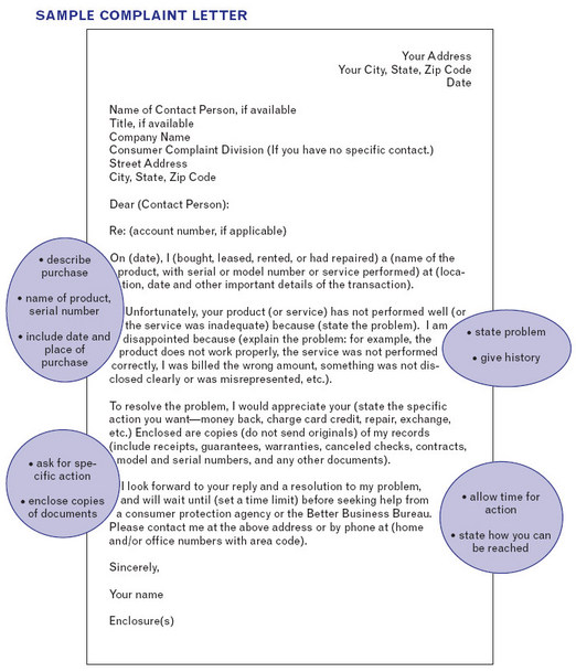 Free Sample Complaint Letter To A Business Georgia Wall Street Engish How To Write A Letter Of Complaint