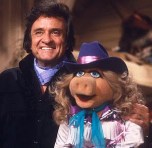 Pictured: Only available image of Johnny Cash smiling.