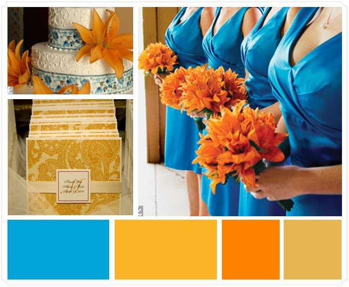 Turquoise Weddings Inspirations Color Dark Blue Complementary Colors Yellow Or Sea