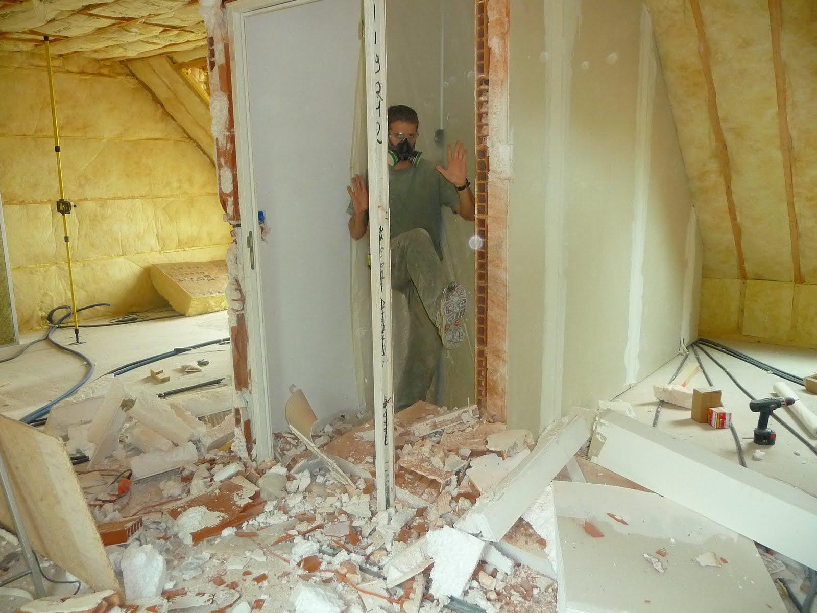 Casser Une Cloison En Brique coic-breizh: week end je casse la cloison de la cage d