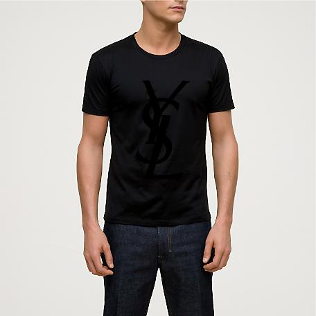 t shirts ysl yves saint laurent logo t shirt size m. Black Bedroom Furniture Sets. Home Design Ideas