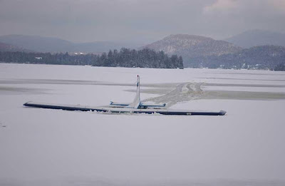wrong landing by this airplane in ice