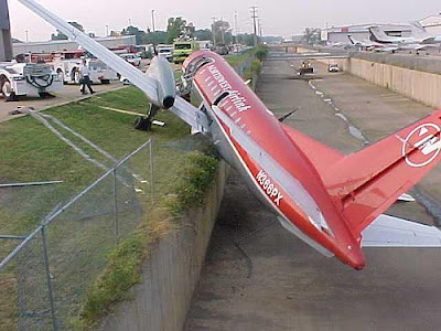this aircraft seems to have gone way ahead of its runway (2)  2