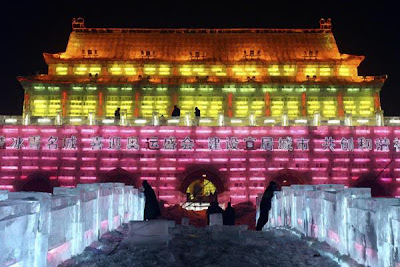 Ice sculpture of the Tiananmen gate