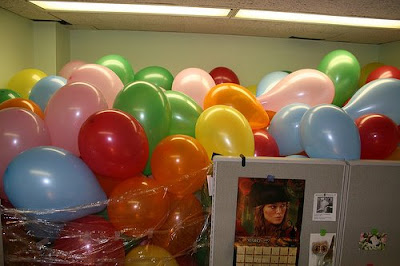 Balloons & Missing Monitor