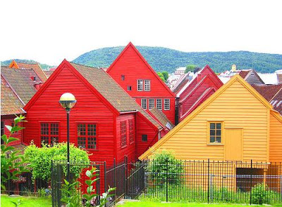 Red colored house