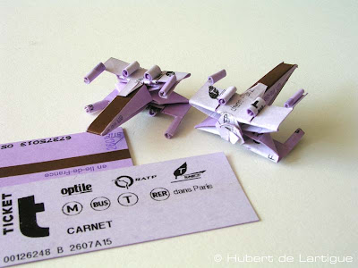 planes make out of train tickets