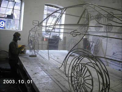 Real Wireframe Of Toyota Corolla Sculpture By Benedict Radcliffe (7) 7