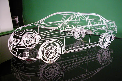Real Wireframe Of Toyota Corolla Sculpture By Benedict Radcliffe (7) 1
