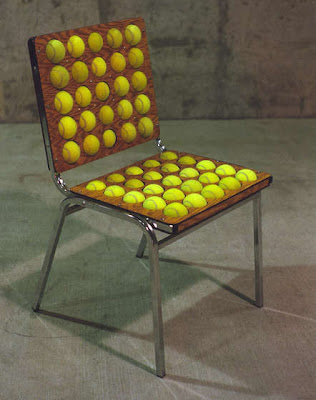 Tennis ball chair
