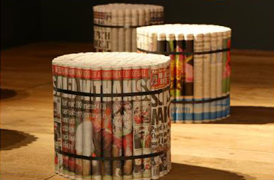 Creative Newspaper Furniture (3) 1