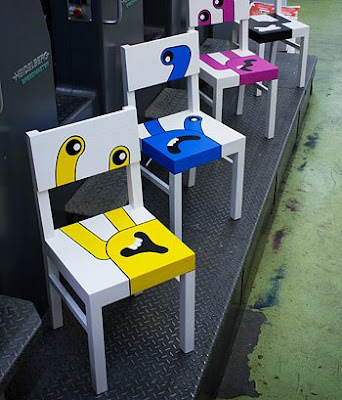 hand painted chairs (5) 5