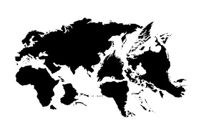 Twelve Animals Created From World Map (12) 12