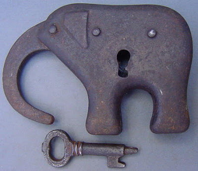 Antique Elephant Shaped Padlock