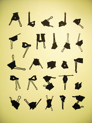 Office Clip Alphabet