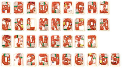 Alphabet Made Of Raw Hamburger (2) 2