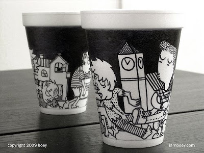 Art On Styrofoam Cups (11) 7