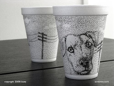 Art On Styrofoam Cups (11) 6