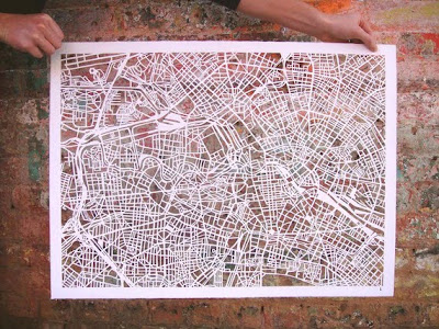 11 Creative and Cool Hand Cut Paper Maps (11) 1