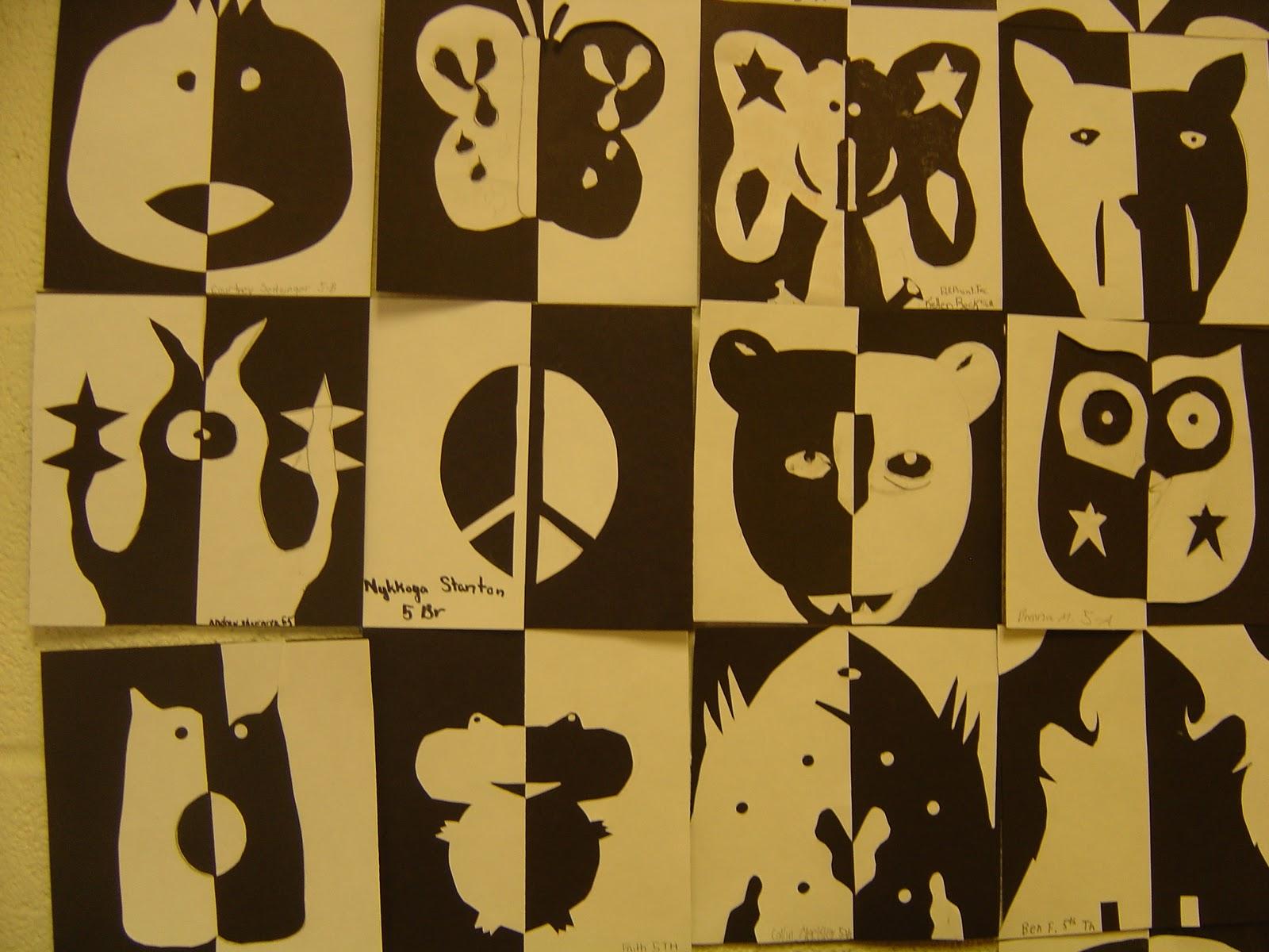 Positive Negative Art Worksheet