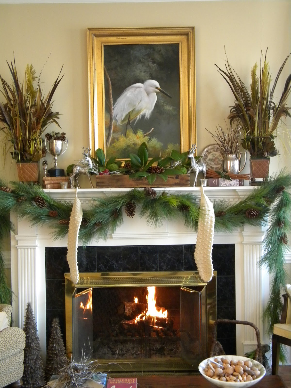 Three Pixie Lane A Woodland Mantel For Christmas